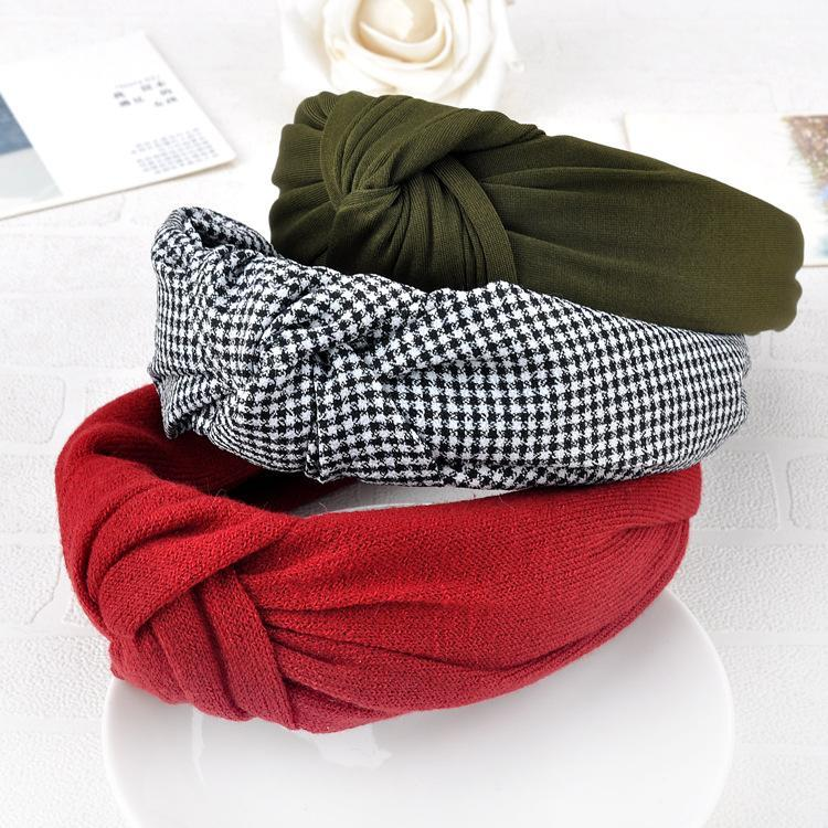 Solid Colors Hair Knotted Hair Band for Women Headbands Hairbands Headwear 2020 New Arrival