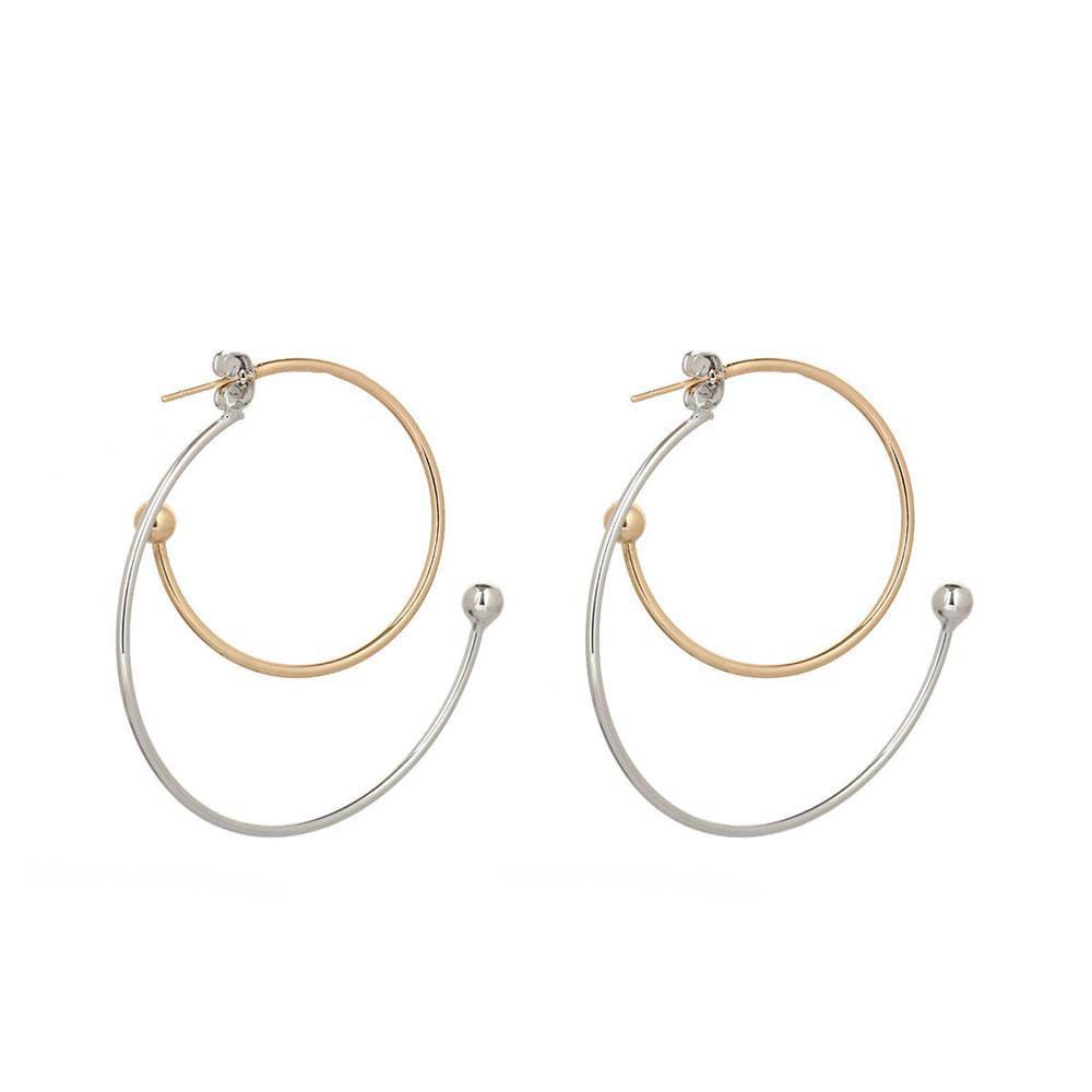 Большие кольца и мелкие кольца Серьги Серьги Золото и серебро Мода Очарование Женщин Ухо Шпилька Простое темперамент Серьги