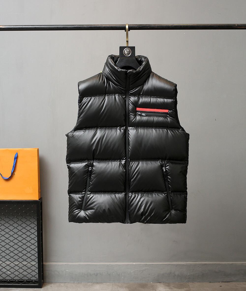 20ss erkekler yelek klasik seyahat aşağı kolsuz ceket sıcak rahat yüksek kaliteli kabarık tarzı 95% beyaz ördek aşağı kış aşağı ceket