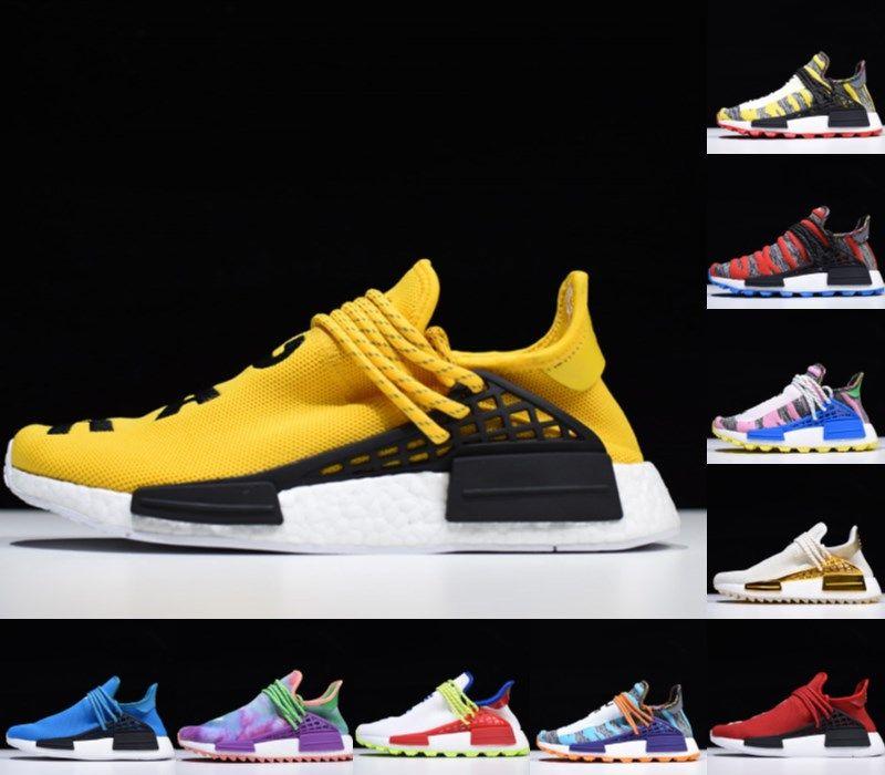 2019 Pharrell Williams NMD Made Human Race Shoes кроссовки равенства ботаника черные нобелевские чернила человеческие гонки мужская обувь женщин тренеров кроссовки 36-46