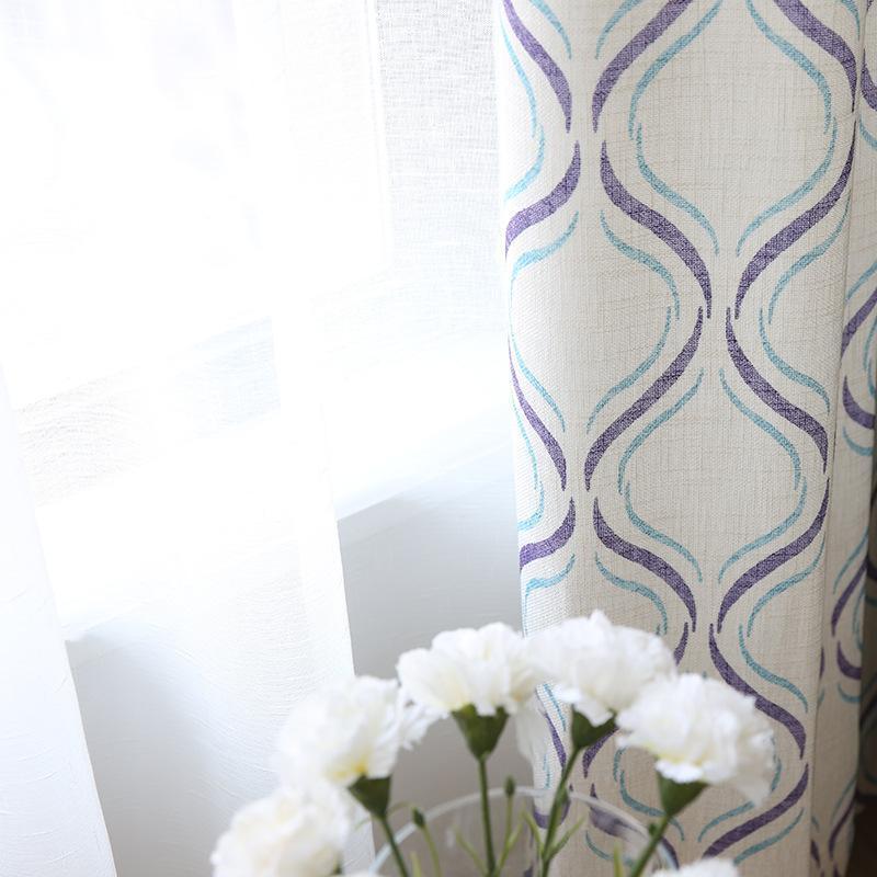 Perde Perdeler Nordic Bambu Pamuk Perdeleri Oturma Odası Yatak Odası Küçük Taze Karartma