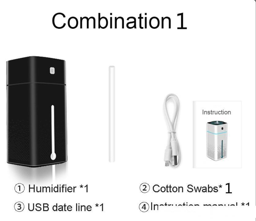 USB Humidificador de aire portátil de 1000 ml Atomizador de aceite de aroma Atomizador Ultrasónico Humidificador Aromatherapy Capacidad Cool Coche Home Life Life