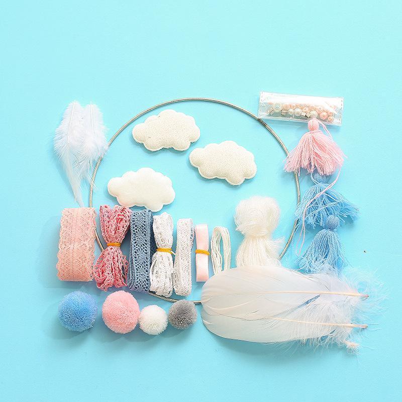 Flaky Clouds Feather Dreamcatcher Party Catcher 네트워크 LED 드림 포수 십대 소녀 크리 에이 티브 선물 패션 다채로운 EWF3862