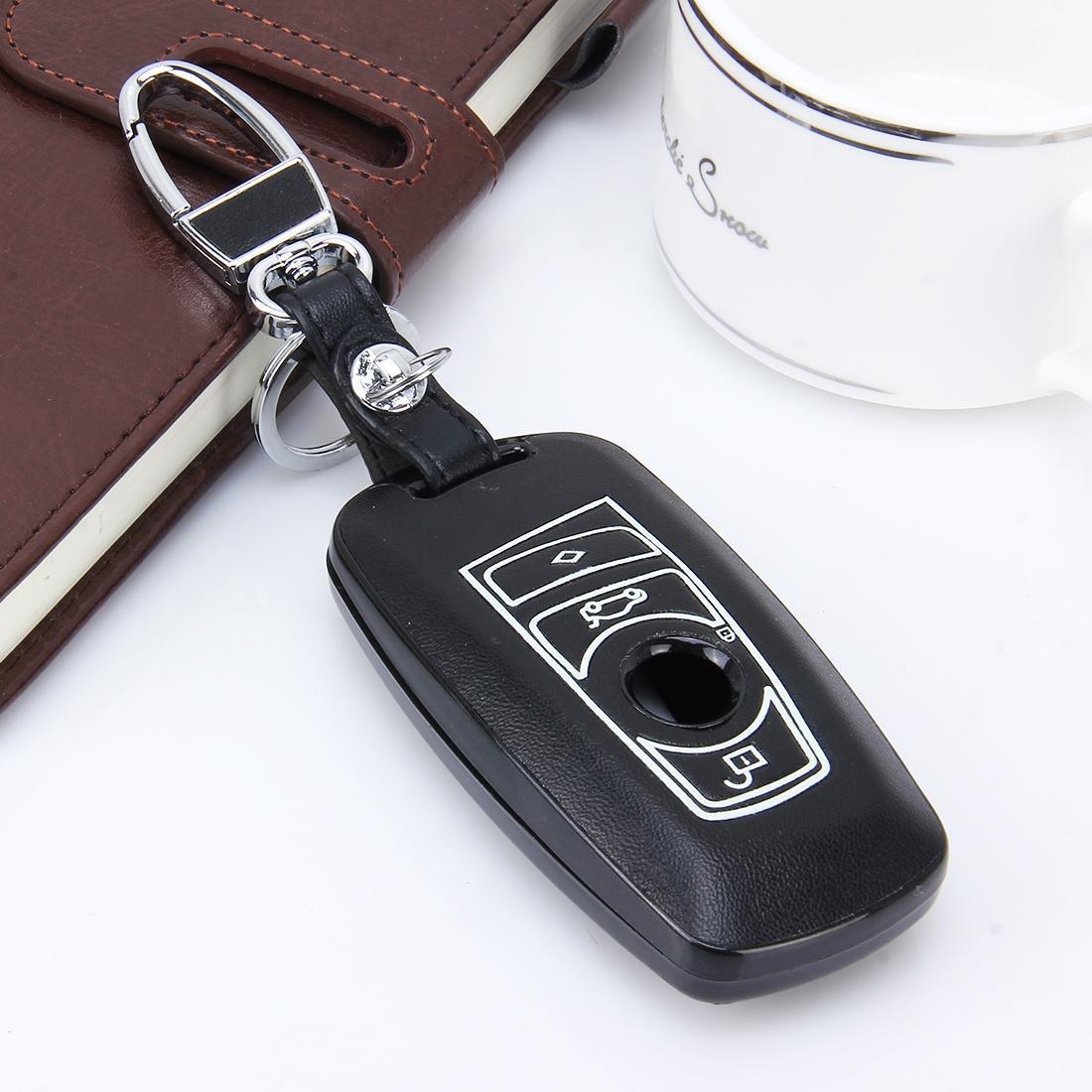 Coperchio di protezione del tasto di protezione del tasto luminoso in pelle PU auto auto per BMW Series5Series7