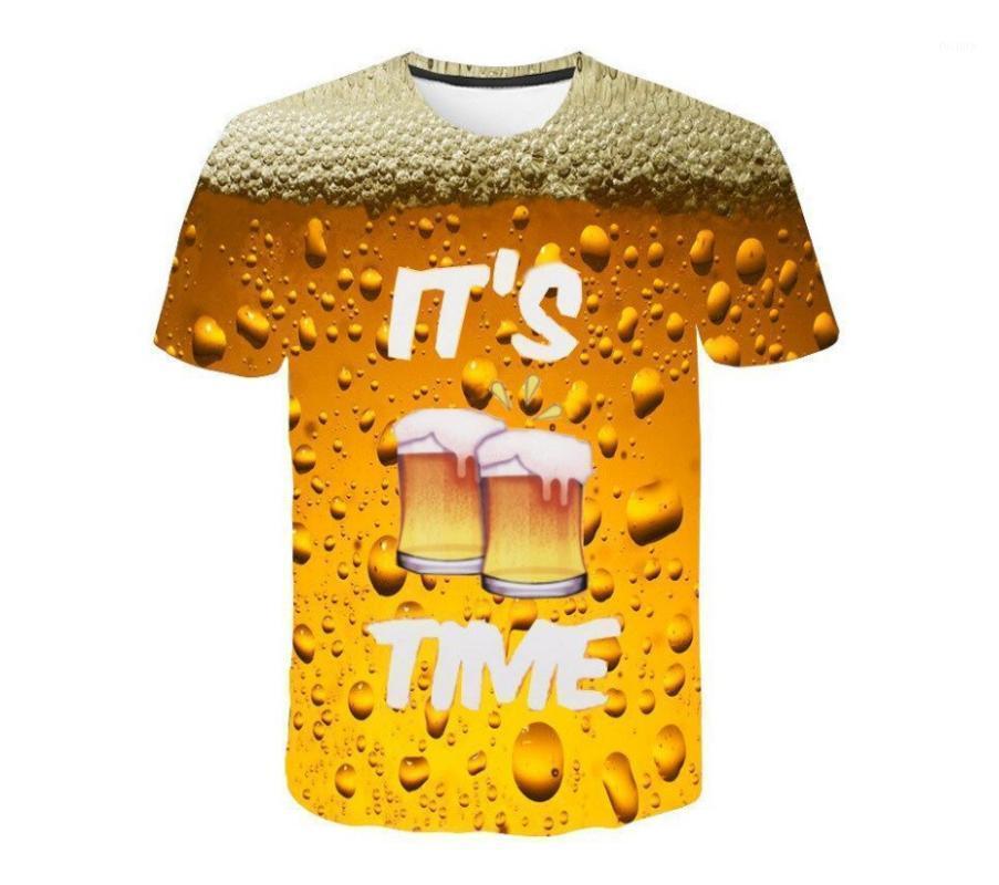 Adamın Zamanı Yeni Tişört Bira Baskılar 3D Komik Rahat Tişörtleri Yaz Top1 Kişiselleştirilmiş Hipster UpdniT