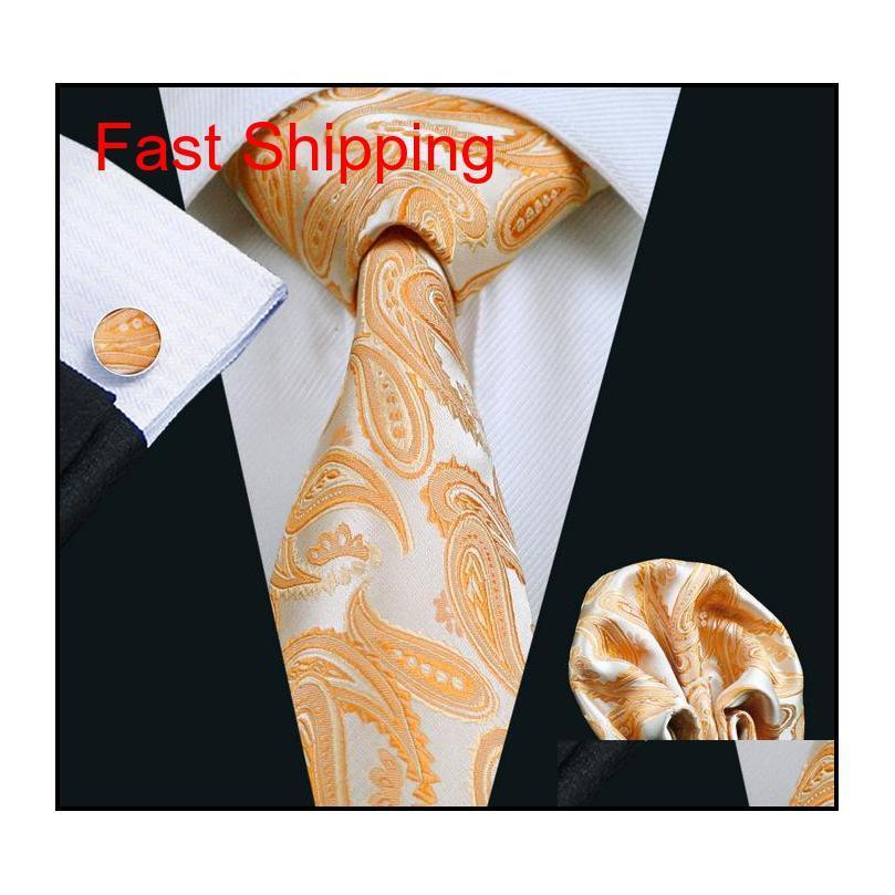 Осеннее оранжевые дешевые связи для мужчин бренд галстук мода новая активная мужская галстука шеи комплект высокого качества мода ac qylkaq dh_seller2010