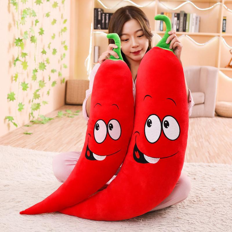 [Funny] 100cm Big Spous Peluchon Rouge Beauté Chili Jouet Jouet Giant peluche chaude poupée oreiller beau cadeau