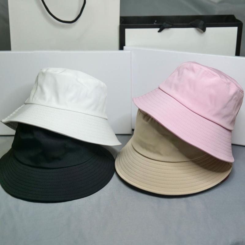 Chapeau de femmes chapeaux de pêcheur noire chapeau de godet de coton unisexe chapeaux Femmes écran solaire Panama hommes Sunbonnet
