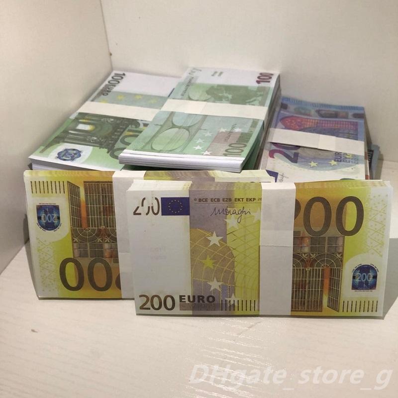 Top Großhandel Qualität Nachtclub EUR BILLET FACHE GELD BAR Atmosphäre Euro Geld Geld Faux Billet Pfund LB-098 Movie Prop Spielen RSIICl Vnbxe
