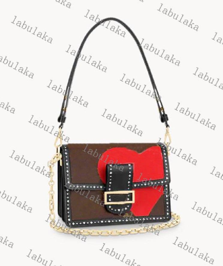 Frete Grátis Moda Dauphine Bag Bolsas Mulheres Designer Genuíno Couro MM Saco de Ombro M57448