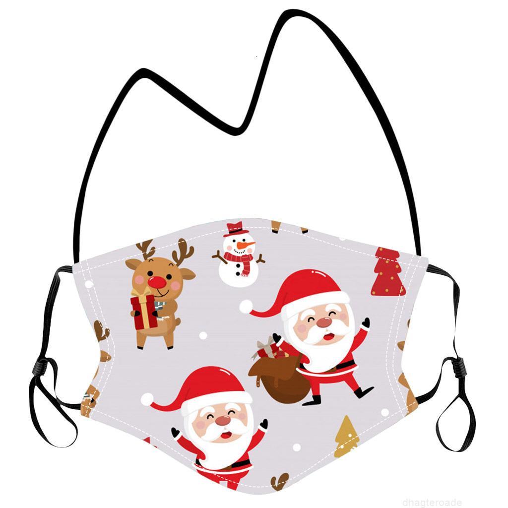 Party Hängende Hals Schutzmaske Kinder Cartoon Weihnachtsmasken Waschbare Gesichtsabdeckung Lanyard Für Kinder Großhandel
