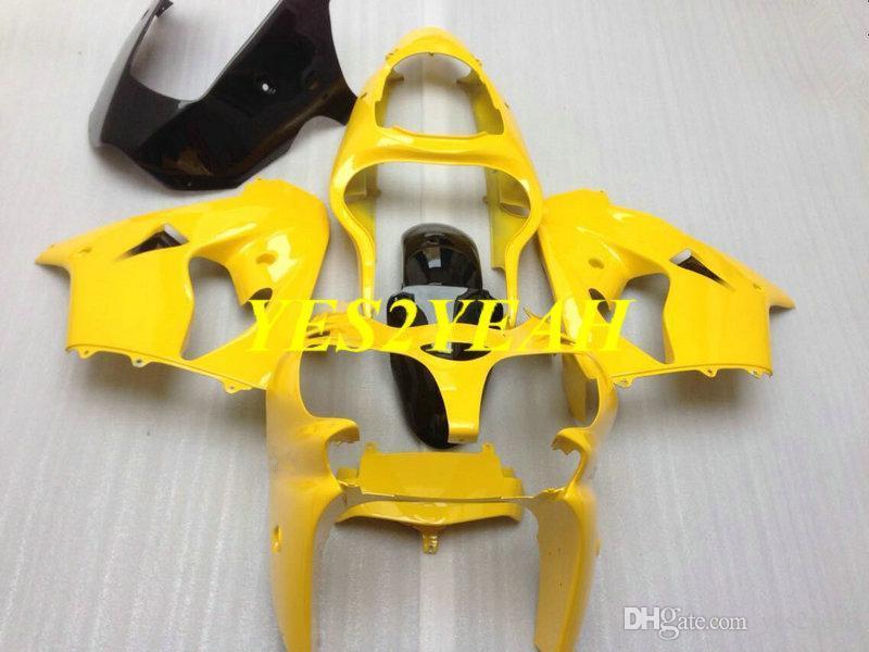 Bodywork carens personalizzato per Kawasaki Ninja ZX-9R ZX9R 2000 2001 ZX 9R 00 01 ABS Kit corpo carenatura giallo + Regali KK29
