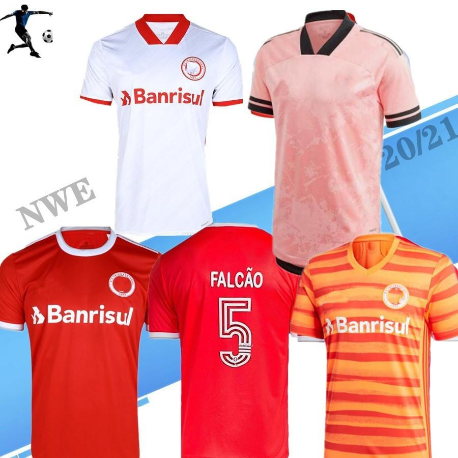 Brazi 2020 2021 SC Internacio Nal 축구 유니폼 홈 레드 멀리 화이트 패트릭 20 21 Fernadão Camisetas R.Sobis D.Alessandro 축구 셔츠