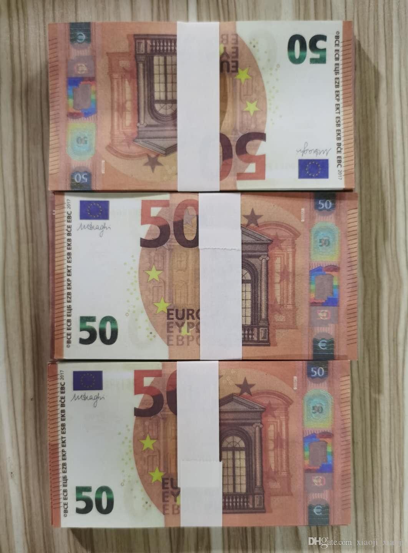 Prop Vente 50 Monnaie Euro euros Euro Billet Euro Jeux Jeu de DIY accessoires Jeu Monnaie Simulation chaude Monnaie 023 WXAFM