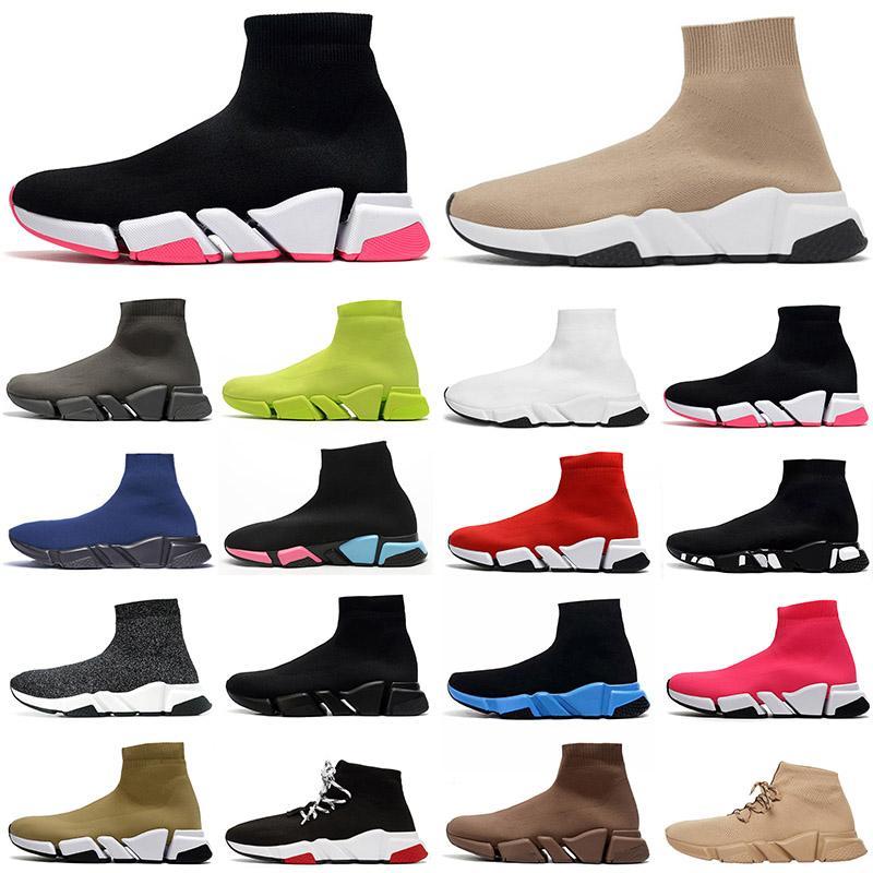 2020 الوافدون الجوارب الجوارب الجديدة أحذية رجالي إمرأة عارضة الأحذية سرعة المدربين خمر منصة مصمم الأحذية جورب رياضة المدربين