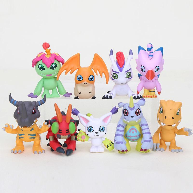 9 teile / satz Anime Digital Digimon Action Figure Spielzeug Agumon Gerymon Digital Charakter PVC Figur Modell Spielzeug 201202