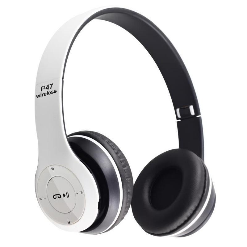 가장 저렴한 헤드셋 무선 블루투스 스테레오 헤드폰 접이식 스포츠 이어폰 핸드 프리 MP3 플레이어 노이즈 취소 Andorid iPhone