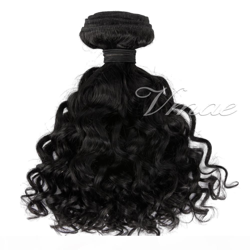 VMAE Монгольский натуральный черный глубокий вьющиеся вьющиеся вьющиеся 3 шт. Лот 10-28 дюймов Необработанные девственницы РЕММ Человеческие волосы Плетение Усилители