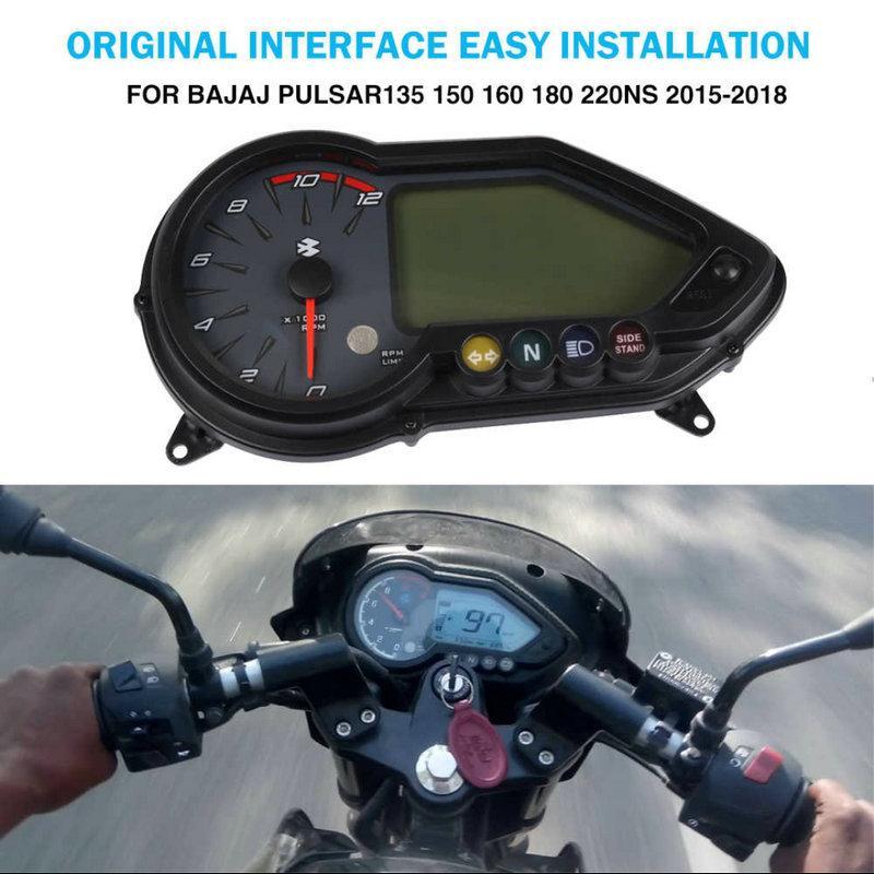 Instrumento de la motocicleta Electronic velocímetro del odómetro Speedo Tacómetro Para Bajaj Pulsar 180 125 135 150 160 220NS Pulsar180