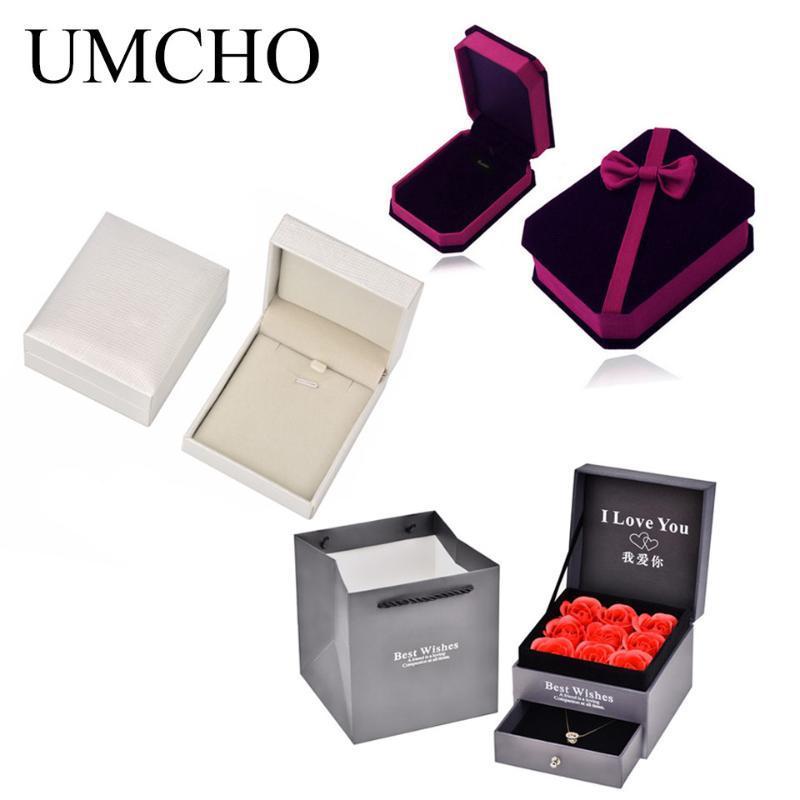 Ювелирные мешки, сумки Изысканная розовая коробка для ожерелья серьги