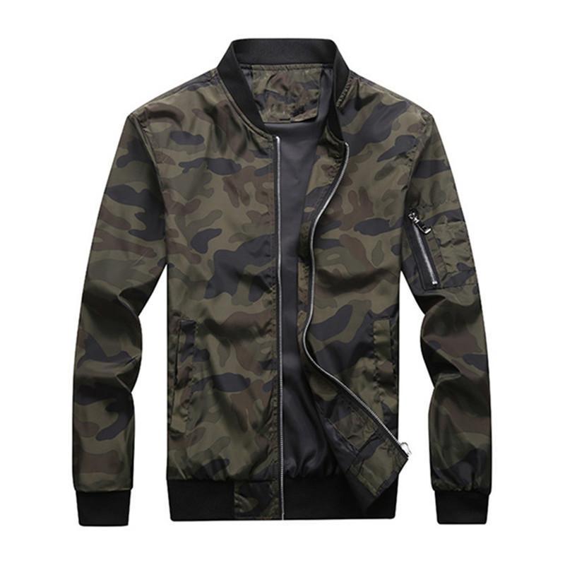 Men's Jackets Autumn Camouflage Male Coats Camo Bomber Jacket Mens Clothing Outwear