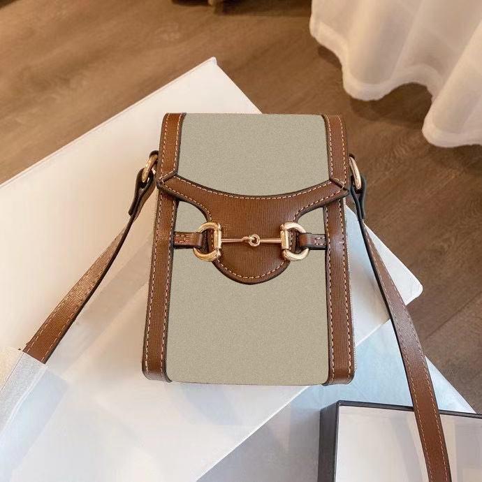 1955SS حقيبة الكتف حقيبة يد الفاخرة مصمم القديم زهرة الكلاسيكية الصليب الجسم النساء مع المشارب قفل رسالة جلد طبيعي رفرف الأزياء