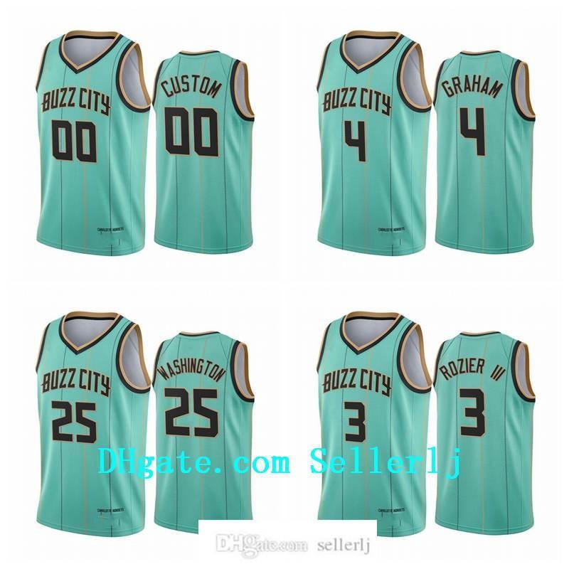 NCAA Men Devonte' Graham #00 CharlotteHornetsJersey 2020-21 Mint Green Buzz City Jersey