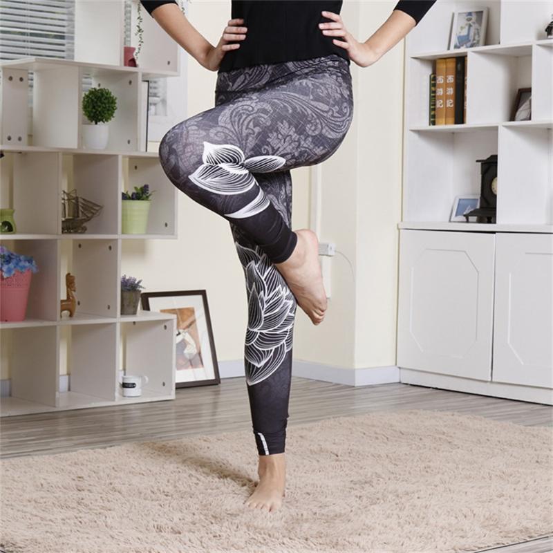 Yoga Outfits Women Leggings Slim High Waist Elasticity Fitness Printing Leggins Strength Breathable Woman Pants Push Up