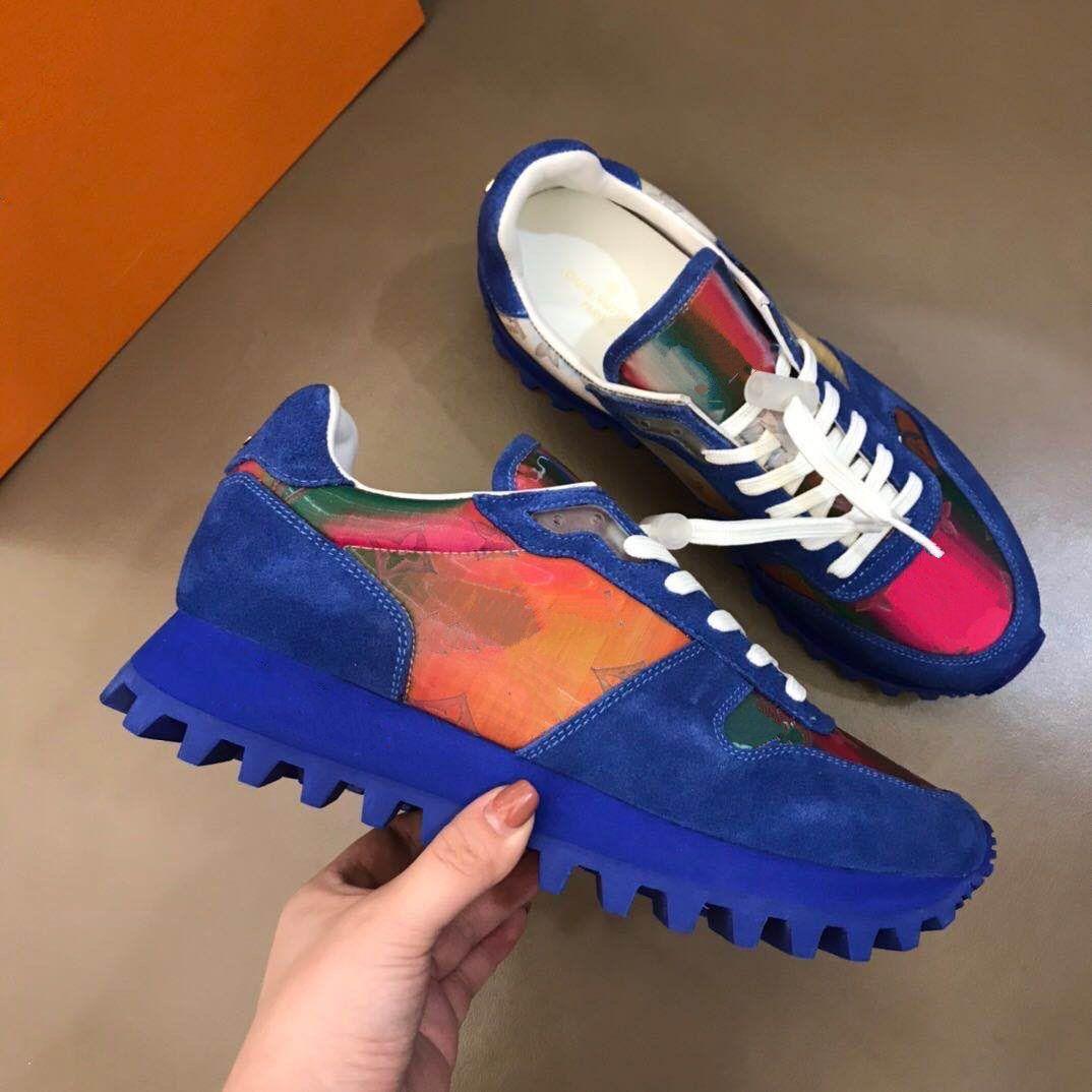Yeni sonbahar ve kış sporları rahat ayakkabılar, renkli 5d bukalemun spor erkek tahta ayakkabı. Boyut: 38-44.