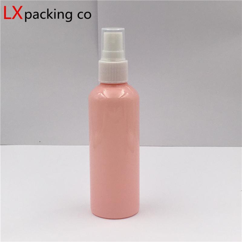 50 pcs 10ml 30 ml 50 ml de bouteilles de pulvérisation en plastique rose 100 ml de pulvérisateur blanc Pulvérisateur de parfums cosmétiques