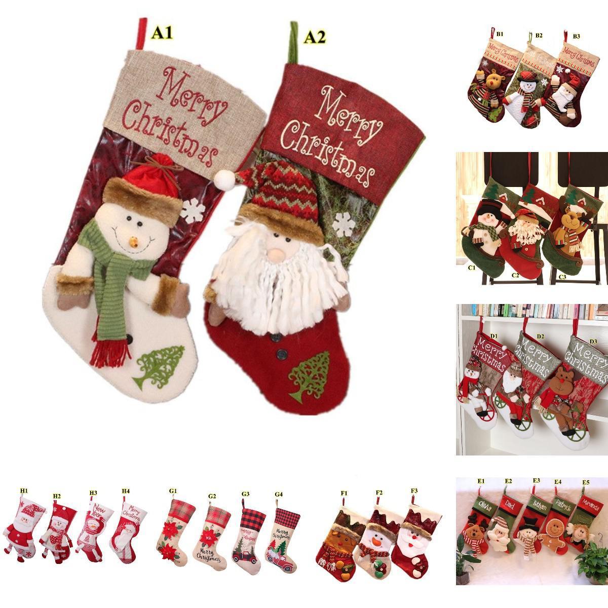 Presente de Natal Bolsa de Doces Home Árvore de Natal Pingente Pingente de Meia De Natal Decoração 8 Estilos Diferentes Integração OWE3039