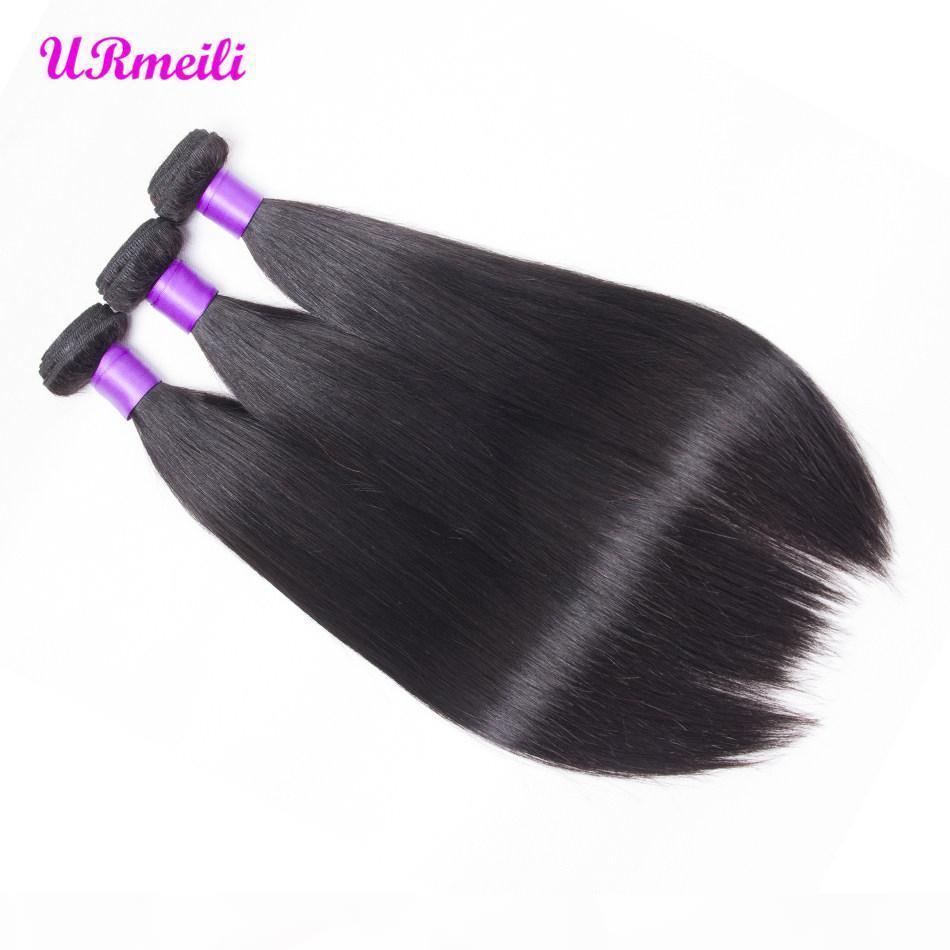 Прямые человеческие пакеты волос бразильские девственницы плетения волос 100% необработанные человеческие волосы 3 4 пучка 30 дюймов прямо естественный цвет