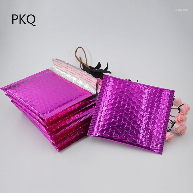 15 * 13cm kleine rosa Poly-Mails für Schmuck Verschiffenverpackung Metall Bubble Mailer gepolsterte Versandtaschen Umschlag Kurierbeutel11