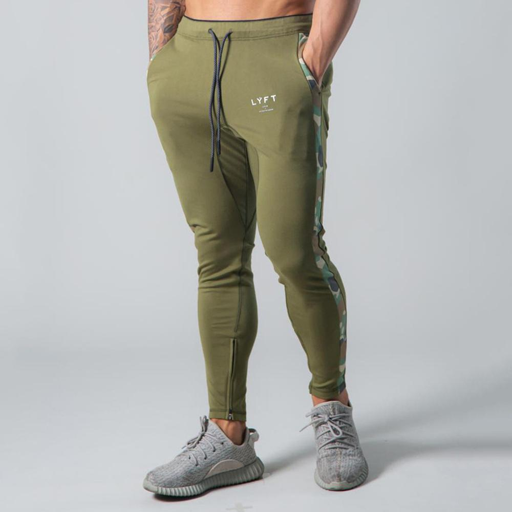 Cotton Casual Pants Men Joggers Sweatpants Bodybuilding Skinny Trousers Male Gym Fitness Workout Autumn Running Sport Trackpants X1116