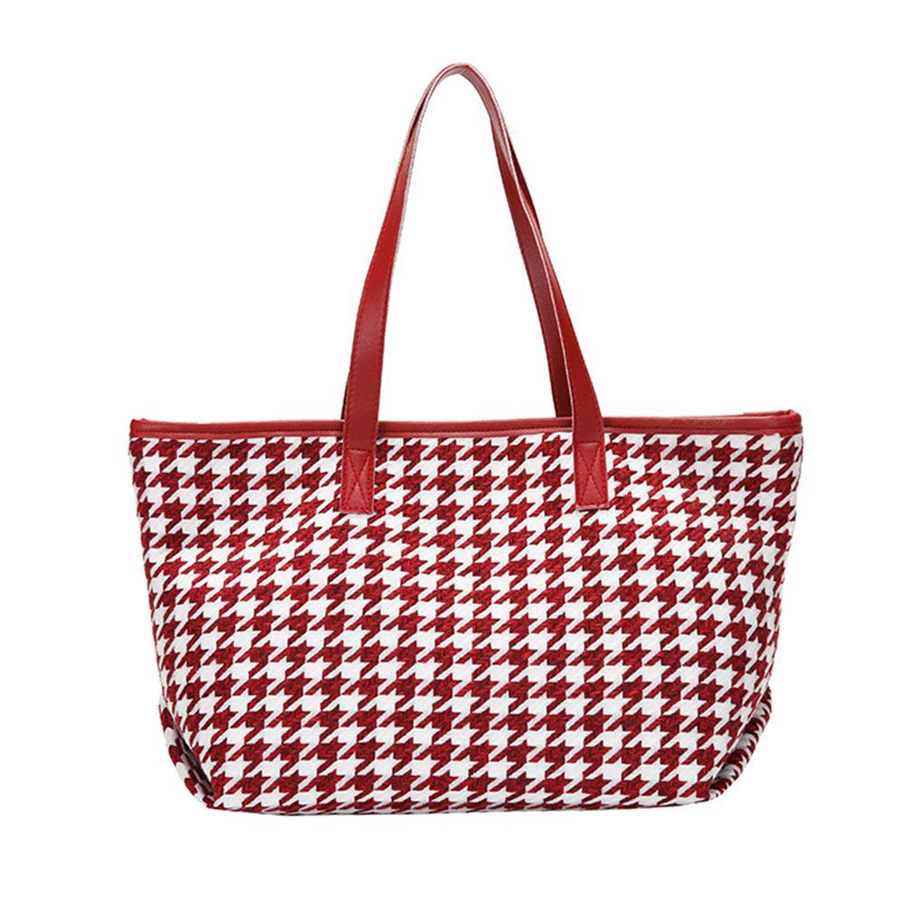 HBP Femmes Sac à bandoulière Haute capacité PU en cuir PU fourre-tout dames purs sac à main pliable réutilisable shopping sacs rouges