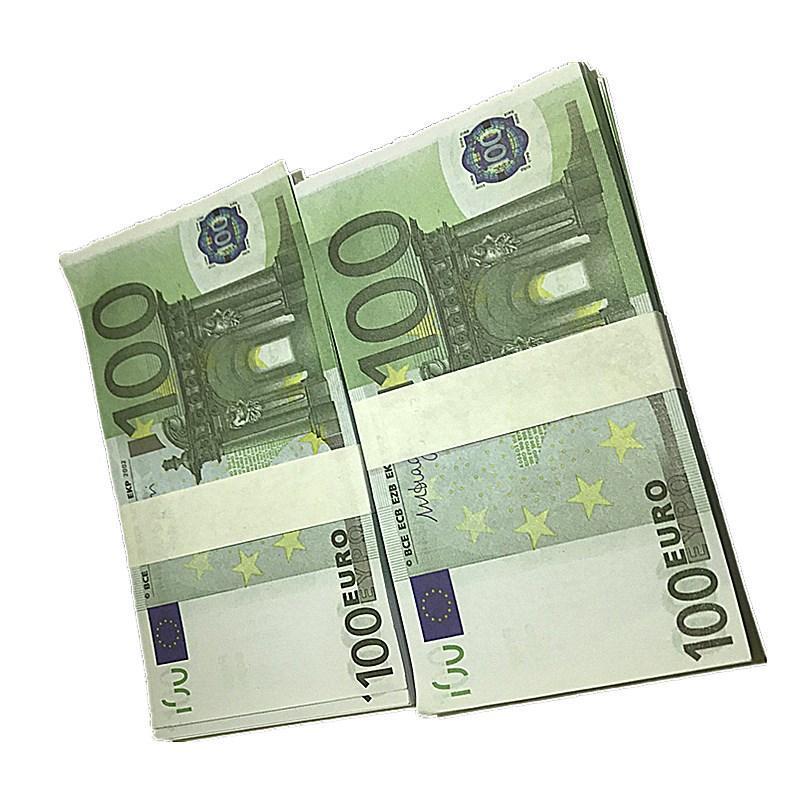 Faux Prop Dollars Money Billet Billet Movie 100pcs / Pack Money 100 BRA K10 GHBUE falso falso Euros Euros EUROS EUR UVEOI