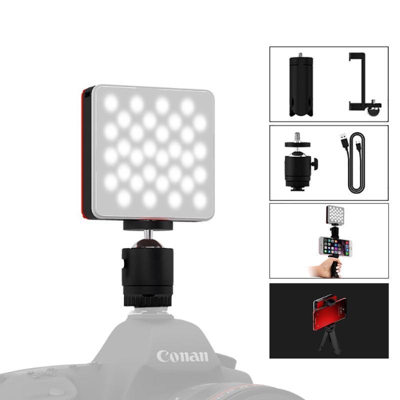 TOLIFO MINI 64 Светодиодная камера Света, портативный аккумуляторный комплект для смартфона для смартфона для видеокамеры DSLR мобильный телефон