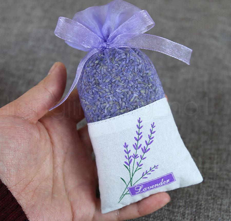 보라색 면화 Organza 라벤더 향 주머니 가방 DIY 말린 꽃 패키지 가방 웨딩 파티 BDESPORTS