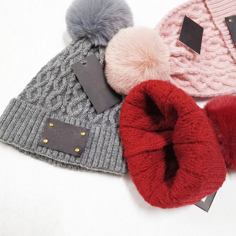 Новое поступление стильные осень зима теплые женщины плетеные вязание крючком шерстяной вязаной шаповой берет лыжный мяч шапка мешковатая твердая шляпа черепочка i6yh #