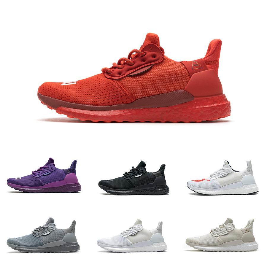 2021 رجل pharrell williams الشمسية الحب هو الأرجواني النازيح الحمراء الأساسية المدربين السود كريم الأبيض الرمادي الاحذية أحذية رياضية خفيفة الوزن