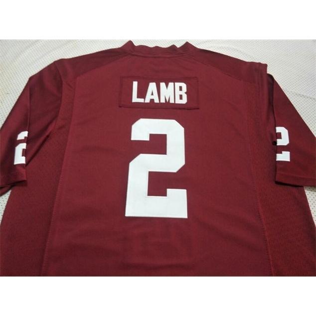 3740 Оклахома Рано, что ягненок, ягненок # 2 Real Full Emboidery College Jersey Размер S-4XL или пользовательское имя или номер Джерси