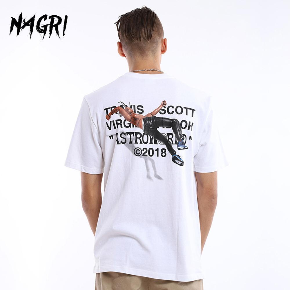 NAGRI Men T-shirt Fan Letter Printing Travis Scotts ASTROWORLD Pocket Graphic Tshirts Letter Printing Streetwear Hip Hop Tee Y1114
