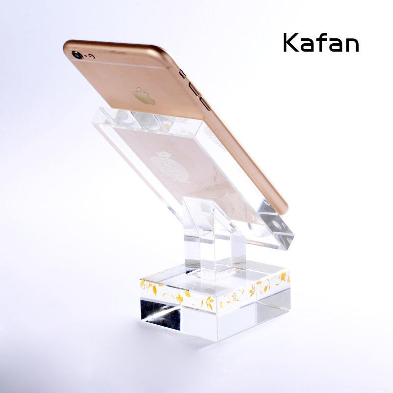 4fds2awCustomized Transparent Tabletop Art Cell Display Stand Crystal Gift Items For Smart Phone