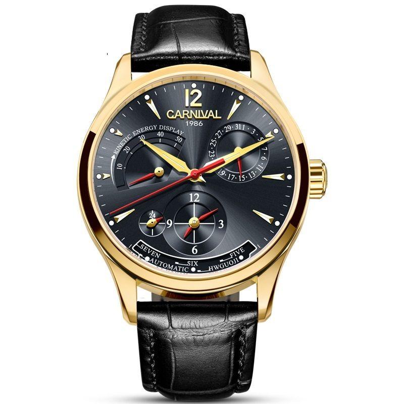 Carnival Style Design Style Energy Display Automatic Watches Top Brand Watch 2020 Uomo di lusso Nuovo orologio da polso Relogio Masculino Y1214