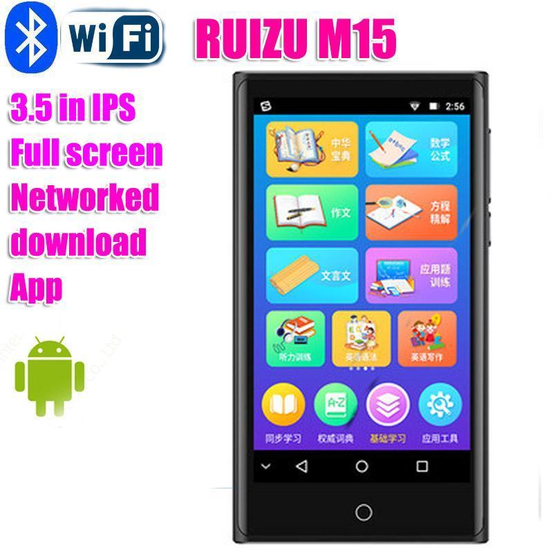 Ruizu M15MP4 WIFI Bluetooth Plein Touch 3.5inch IPS Screen Lecteur MP3 peut accéder au lecteur vidéo radio FM Internet FM