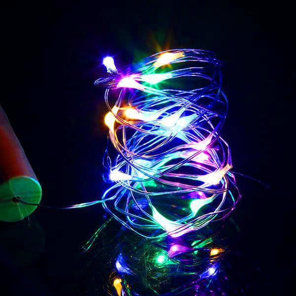 Быстрая доставка для продажи 2M 20 светодиодных мини-бутылок стоповая лампа струны украшения светло-красочные огни Земля цвет полный материал