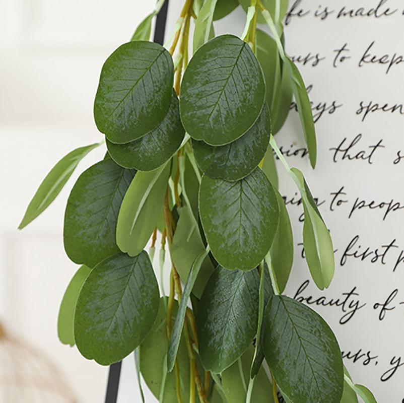 2M искусственный зеленый висит виноградные листья листья гирлянды поддельные заводы для свадьбы домашнего сада украшения стены1
