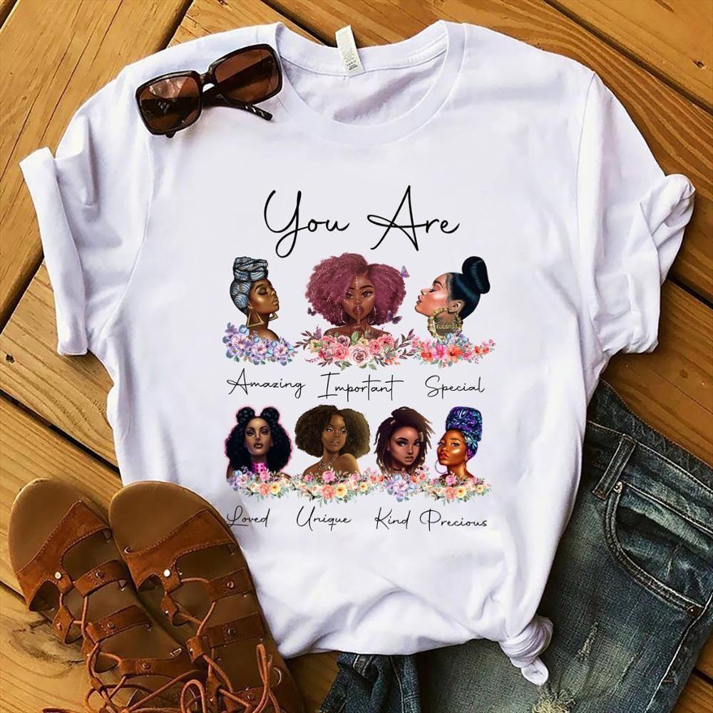 Бог говорит, что ты - ты королева печати черная девушка волшебная футболка графические тройники рубашка Femme черная жизнь материи футболки допинг меланин т