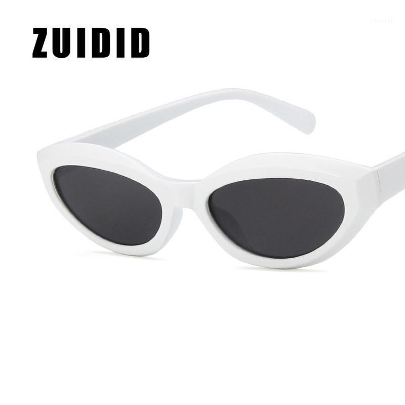 Güneş Gözlüğü Zuidid Kedi Gözler Kadınlar için 2021 Moda Üçgen Küçük Çerçeve Şeffaf Güneş Gözlükleri Bayanlar UV400 Shades1