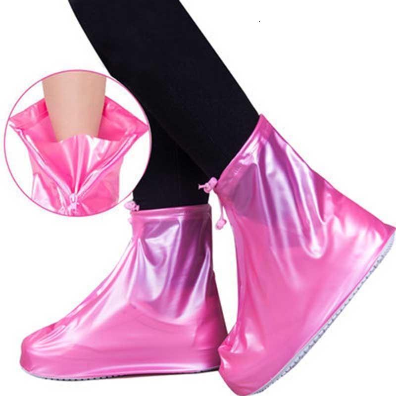 غلاف للجنسين overshoes reusable مقاوم للماء pvc حامي مضاد للانزلاق أحذية المطر أحدث الأحذية الملحقات XH14QP